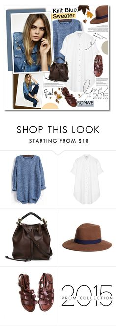 """Knit Blue Sweater in Romwe!"" by ksenia-yo ❤ liked on Polyvore featuring Topshop, Acne Studios, Chloé and Brooks Brothers"