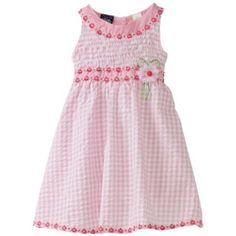 So La Vita Girls 4-6x U-Neck Smocked Yoke Dress