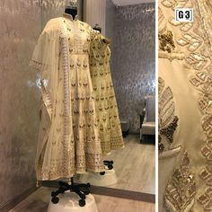 A Look of Royalty with this Gotta and Metal Work Embellished Anarkali dress in cream silk. Designer Anarkali Dress  ONLY available at G3 Sutaria Ghoddod Rd Store. To Shop with Live Video Calling Service appointment or For Instant Price and Queries Whatsapp - +91-9913433322 #G3+ #G3+Store #g3 #Sutaria #GhoddodRd #anarkali #anarkalisuit #indianwedding #indianbride #desifashion #bluedress #desiwedding #desi #picoftheday #outfitoftheday #festive #indianbride