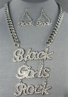 $20 Black Girls Rock Necklace Set
