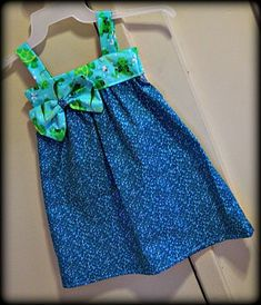 Toddler Sundress With Bow (Sewing For Beginners)
