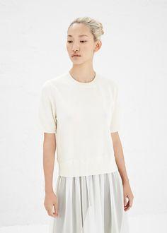 Comme des Garcons SHIRT Short Sleeve Dress (Ecru / Beige)