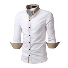 45704a20d ... shirts Youth leisure Evening dress Patchwork Slim Fit Casual Shirt-in  Dress Shirts from Men s Clothing   Accessories on Aliexpress.com