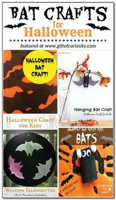 Bat crafts for Halloween {Weekly Kids' Co-op}