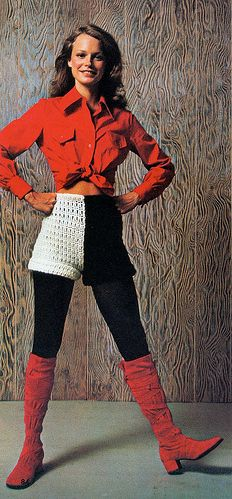 Seventies fashion... it would be better if the shorts were just one color!