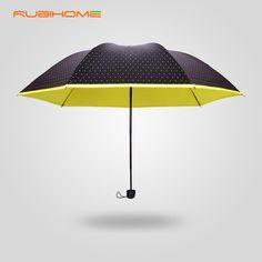 2015 NEW Summer style sombrillas uv Sun/Rain Durable umbrellas women female three folding with dot at a loss hot sale off 5%