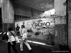 Milano distinguishing marks in black and white photos.