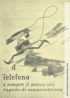 Inserzione pubblicitaria che esalta il telefono come il mezzo di comunicazione più veloce, 1929