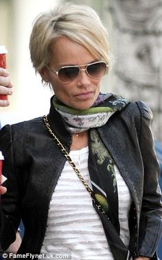 kristin chenoweth's new pixie haircut | Off with the pixies! Kristin Chenoweth works her new do while makinga ...