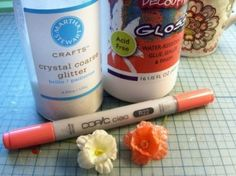 Copics and silk flowers - Now that I have a few copic markers now need to find out how to use them