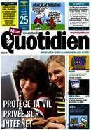 Mon Quotidien spécial internet et vie privée Ce numéro spécial du journal Mon Quotidien rappelle les bonnes pratiques et les réflexes à adopter pour protéger sa vie privée sur Internet...