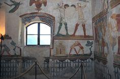 Casa delle Guardie, affresco, metà XIV sec - Castello di Avio, Sabbionara di Avio. Foto © Roberto Horak