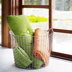 Korbo Wire basket Classic 50, galvanized | Storage | Decoration | Finnish Design Shop