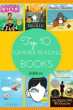 Top 10 Summer Reading Books Recommendations from KidLit Tv