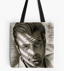 G. Clooney in black and white Tote Bag
