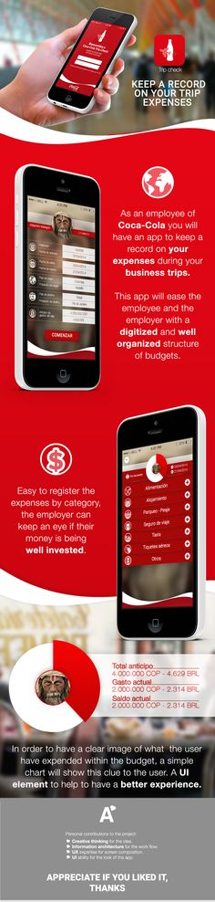 Personal project for Coca-Cola, solving an organization problem about expenses.