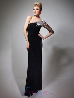 Trendy Delicate Floor-length Sheath / Column Evening Dresses - $147.99 - Trendget.com