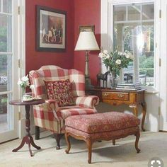 Living Room Red Decor French Country New Ideas French Decor, French Country Decorating, Country Cottage Living, Red Cottage, Country Farmhouse, Cottage Style, English Country Decor, Country Style, Country French