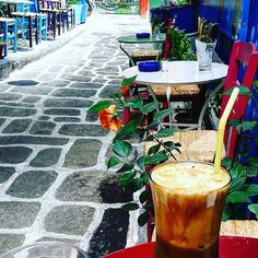 """Frappe coffee in our neighborhood in an old work class coffeeshop. This is the real """"greek"""" coffee☺After all today is the National Frappe day! #urbanathenscollective #hiddenathens #island #athens #psirri #getlostinathens #visitgreecegr #visitathens #coffee #streetsinathens #urban_greece #visitorgs #traveldeep #travelexplorers #urbanexplorers #frappe #vscourban #Athens4season"""
