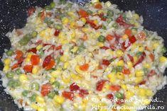 Risotto cu porumb și legume – rețeta rapidă Meatless Recipes, Risotto, Vegetables, Food, Eten, Meals