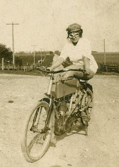 Biker babe  c. 1910s.