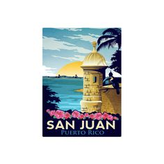 San Juan, Puerto Rico Wall Art Print ($12) ❤ liked on Polyvore featuring home, home decor, wall art, home wall decor, interior wall decor and mounted wall art