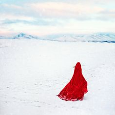 Fine Art Photography Print Red Riding Hood by Vanessa Paxton.