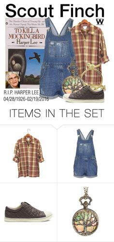 """""""R.I.P. Harper Lee"""" by wearwhatyouwatch ❤ liked on Polyvore featuring art, wearwhatyouwatch, RIP, harperlee and FamousAuthors"""
