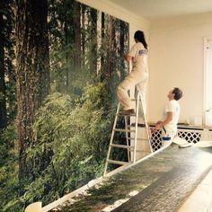 Schori Maler verschönert unser Büro. #wallpaper #office