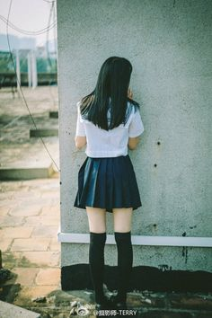 Japanese schoolgirl Cute School Uniforms, School Uniform Girls, Girls Uniforms, School Girl Japan, Japan Girl, Cute Asian Girls, Cute Girls, Prety Girl, Japanese Uniform