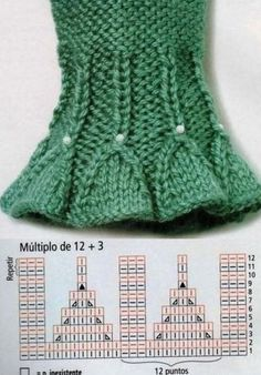 Knitting result for smocking pattern - Knitting and Crochet Baby Knitting Patterns, Knitting Stiches, Knitting Charts, Lace Knitting, Knitting Designs, Knit Crochet, Crochet Patterns, Knit Mittens, Baby Mittens