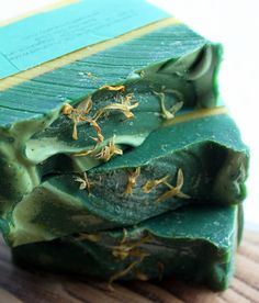 Tropical Rainforest  Olive Oil Soap by orangethyme on Etsy, $6.25 Ripe Pineapple, Cool Air, Juicy Goji Berries, Creamy Coconut and Strawberry Guava. This is a light tropical blend and is topped with Calendula petals.