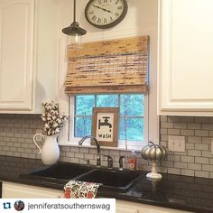 How perfect is this? We never get tired of seeing Painted Fox treasures in your homes! #Repost @jenniferatsouthernswag ・・・ I finally decided where to put my Wash Sign that I won as part of a giveaway from the sweet and talented Jolia from @farmfreshhomestead. I think it's adds the perfect farmhouse touch to my kitchen window. Jolia thank you I love it ya'll stop by and check her out. She is super talented and definitely #onetofollow #paintedfoxfamily #farmhousestyle #kitchendecor