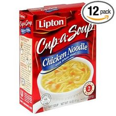 Lipton Cup A Soup Hearty Chicken Noodle with White Meat Instant Soup oz Chicken Noodle Soup Calories, Lipton Chicken Noodle Soup, Chicken Soups, Cup Of Soup, Gourmet Recipes, Snack Recipes, Noodles And Company, Soup Mixes