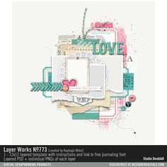 Layer Works No. 773- Studio Double-D Templates- LT171909- DesignerDigitals