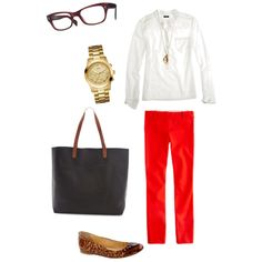 """""""Red pants outfit"""" by tasiamarie on Polyvore"""