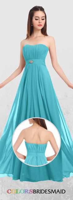 Shop ColsBM Claire in Chiffon, 170 Colors, All Sizes & Free Custom. styles & color swatches available for Bridesmaid at ColorsBridesmaid. Turquoise Bridesmaid Dresses, Affordable Bridesmaid Dresses, Strapless Dress Formal, Formal Dresses, Bridal Stores, Dress Out, Color Swatches, Buy Cheap, Dream Wedding