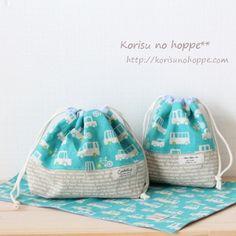 こんにちは♪日々予約セット作り続けていますがshopに再入荷なかなかできず、すみません4月からのサイズオーダーのお問い合わせも増えてきました♪ありがとうご... Gift Bags, Baby Kids, Diy Crafts, Cute, Fabric, Gifts, Tote Bags, Bags, Blue Prints