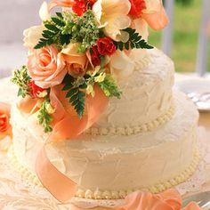 Fresh Orange Wedding Cake | MyRecipes.com --- I'm not pining for a wedding day in my future, I want this as my Birthday Cake!! ;-)