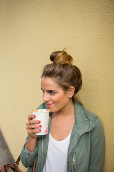 Perfect way to start the day... Throw your hair up and grab a cup of joe!!