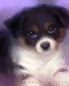 40 Cute Animals Paintings by Rihards Donskis The Design Inspiration Cute Animal Drawings, Cute Animal Pictures, Cute Drawings, Anime Animals, Animals And Pets, Funny Animals, Cute Puppies, Cute Dogs, Cute Little Animals