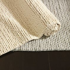 Nice and New: West Elm Chunky Plaited Wool Rug | POPSUGAR Home