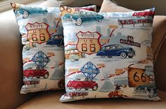 Route 66 cushions by patchandi, via Flickr