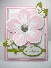 Image detail for -... and Peppers Papercrafting: Stampin' Up Build A Blossom Thank You Card