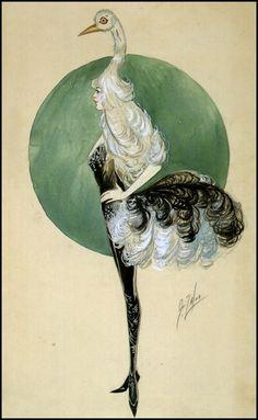 Sam Zalud, Ostrich Costume, 1918.