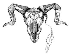 bull geometric tattoo - Szukaj w Google