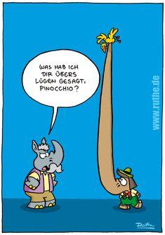 Pinocchio nashorn lügen vogel Geppetto Giepetto Pinoccio