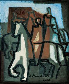 Cavaleiros (1960) Emiliano Di Cavalcanti (1897-1976)