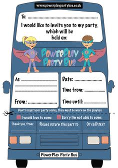 Powerplay party bus business card powerplay party bus pinterest powerplay party bus has its own downloadable party invitation on the website colourmoves