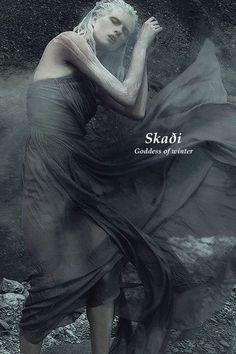 SKADI ~ Goddess of winter in Norse mythology World Mythology, Greek Mythology, Norse Mythology Goddesses, Winter Goddess, Les Runes, Fantasy Names, Norse Vikings, Asatru, Gods And Goddesses